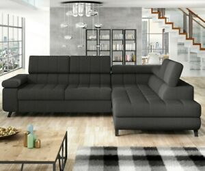 Ecksofa West Polsterecke Eckcouch Sofa Couch Polstersofa Schlaffunktion