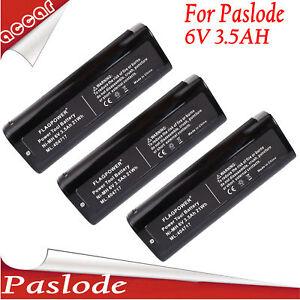 3X Battery For Paslode 6V 3.5AH 404717 IM50 IM65 IM350A 900600 902200 900400 AU