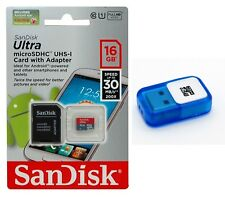 SanDisk 16 GB ULTRA Micro SD MicroSDHC Flash Memory Card with USB Reader 16G