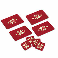 Set 4 Nordic placemats & coasters. Christmas Package. Dining-Tablemats/Coasters