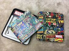Marvel Comics Leather Superhero Avengers Bifold Slimfold Wallet Collectors Tin