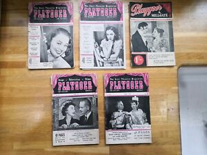 Playgoer and Millgate 1945/47/48/49/50, fragile condition but complete photos
