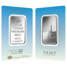 1 oz PAMP Suisse Silver Bar - Ka 'Bah Mecca (In Assay) .999 Fine