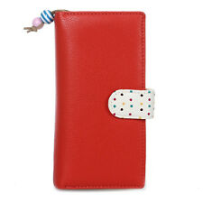 PU Purse Wallet for Women's Fashion Color Red O1M0
