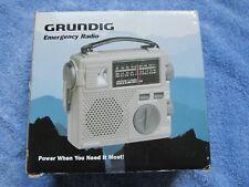 Grundig FR-200 AM/FM/SW Emergency Crank Radio World Band Receiver - NEW Open Box