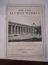 1927 YALE UNIVERSITY ALUMNI WEEKLY  BOOKLET - COMMENCEMENT NO. 40 - TUB QQ