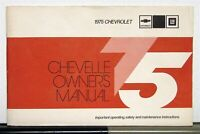 1975 Chevrolet Chevelle Owners Operators Manual Original