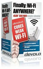 DEVOLO 9078 POWERLINE DLAN 500 WIFI SINGLE ADAPTER FOR USE WITH STARTER KITS ETC