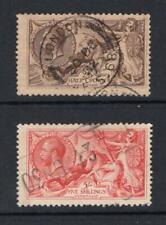 Great Britain 1919 Kgv 2/6 & 5 Shillings - Used - Sc# 179-180 Cats $185.00