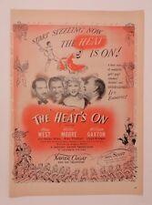 Original Print Ad 1943 Movie AdXavier Cugat THE HEAT'S ON Mae West Victor Moore