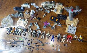 halo mega bloks 14 figures lot covenant, spartans, marines Toys, Weapons, Parts
