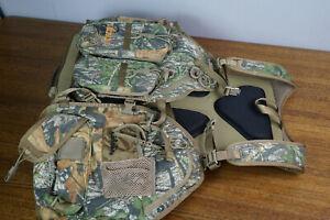 Cabelas Tactical L/XL Turkey Vest Mossy Oak Obsession Hunt Pack Seat Cushion