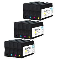 12 Ink Cartridges (Set) for HP Officejet Pro 251dw, 8100e, 8600 Plus, 8615