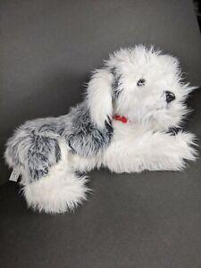 "F.A.O. Schwarz English Shaggy Sheepdog Plush 17"" Gray White Puppy Dog Stuffed"