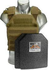 "CATI Body Armor  (AR)500 Plates  1/4"" Frag Coating Sentry COYOTE BROWN Level 3"