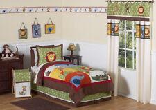 Jojo Monkey Giraffe Jungle Safari Animal Boys Kids Full Queen Sized Bedding Set