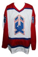Any Name Number Size New Haven Nighthawks Retro Hockey Jersey White Nicholls