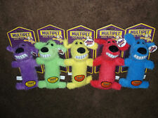 "Set of 3-6"" Loofa Dog Plush Squeak Toy by Multipet Puppy XXS, XS, Sml Dogs"