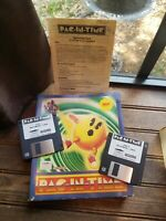Pac-in-time PC PAC In Time IBM Floppy Disk Mindscape Namco Rare Complete CIB