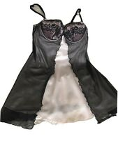 M&S Black & Powder Pink Baby Doll Negligee REDUCED