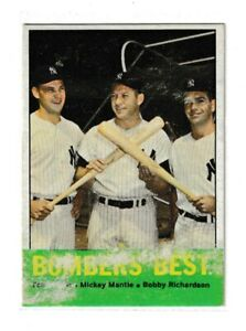 1963 Topps Bombers Best Mickey Mantle #173