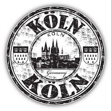 "Koln City Germany Grunge Travel Stamp Car Bumper Sticker Decal 5"" x 5"""