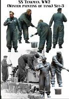 1/35 Scale Resin Model Figures Kit WW2 German SS Tank Crew Painting (2 Figures)