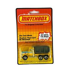 Matchbox Peterbilt Quarry Truck Yellow Grey MB30 1983 Die Cast Pace NIB