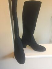 Donald J Pliner Dima Black Stretch Knee High Boots Women's Shoes Size 8 M