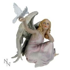 Angel of Peace - Hand Painted Resin Angel & Dove Figure by Veronese Studio BN