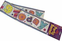 Fun House 9 Today HAPPY 9th BIRTHDAY Holographic Banner Party Decoration 12 Foot