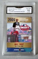$-100- Mike Trout 2009 GMA GRADED 10 FIRST ROUND DRAFT PICK ROOKIE CARD ANGELS.