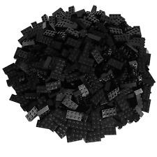 100 schwarze Lego Steine 2x4 - Bausteine Classic, Basic, City - Black - 3001