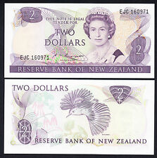 NEW ZEALAND 2 Dollars Russell P. 170b QEII Note GEM  UNC $2