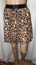 EXPRESS WOMEN'S ACCORDION PLEATED SKIRT SIZE S MULTI-COLOR ANIMAL PRINT NWT