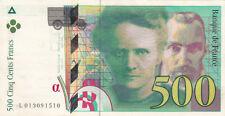 BILLET BANQUE 500 Frs pierre et marie CURIE 1994 SUP 510