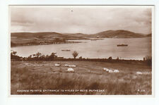 Ardbeg Point Entrance To Kyles Of Bute Rothesay 1934 Real Photograph Scotland