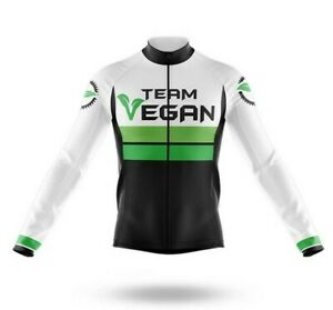 Vegan Cycling Team Novelty Cycling Jersey Long Sleeve