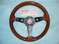 FIAT 500 F/L/R VOLANTE LUISI MONTREAL SPORTIVO IN RADICA + CLACSON ABARTH Ø 34