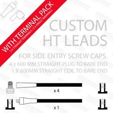 Make your own HT leads in black with Straight plug ends terminals ends & rubbers