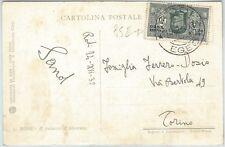 71503 - EGEO - Storia Postale -  DANTE 10 cent. BOCACCIO isolato su cartolina
