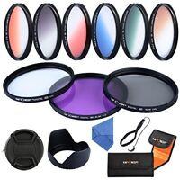 K&F Concept 52mm UV CPL FLD Graduated Filter Lens Accessory Filter Kit For DSLR