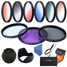 K&F Concept 52mm UV CPL FLD 6 Graduated Color Lens Filter Kit for Canon Nikon