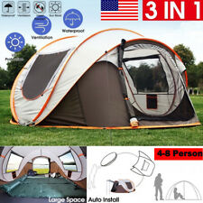 4-8 Person Waterproof Automatic Outdoor Instant Popup Tent Shelter Camping US