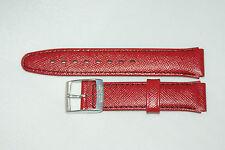 17mm Marken Leder Uhrenarmband in Rot mit Dornschließe Neu - UCoB
