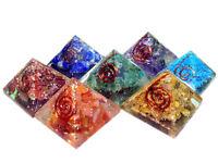 Set of 7 Baby Chakra Orgone Pyramid for Orgone Healing Reiki Healing