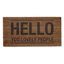 """Bloomingville Kokos-Fußmatte """"Hello you lovely People"""" Türmatte Eingangsmatte"""