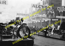Photo - International motorcycle show, Alcyon stand, Paris, 1930