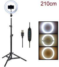 Luz LED Regulable, Anillo de Luz LED de 26cm + TRIPODE 2,1mts nuevo 2700K/5500K
