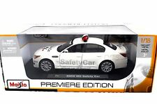 MAISTO 2007 BMW M5 MOTO GP SAFETY CAR WHITE1/18 DIECAST CAR 36144